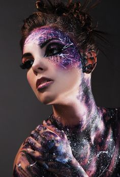 Beautiful body paint - like a galaxy just splashed everywhere