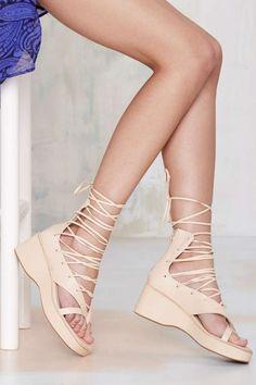 Jeffrey Campbell Emilie Geisha Wrap Sandal   Shop Shoes at Nasty Gal!