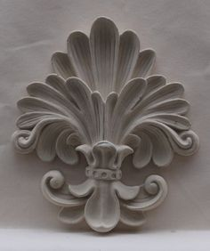 Custom made carved stone medallions - scouting - Wood Carving Designs, Wood Carving Patterns, Wood Carving Art, Stone Carving, Wood Art, Plaster Art, Cast Stone, Ceiling Design, Clay Art