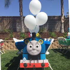 Hi Lorena, can you kindly let me know where did you get this Thomas the train prop I am celebrating my son's birthday and it will be Thomas the train theme. Thomas Birthday Parties, Thomas The Train Birthday Party, Trains Birthday Party, Disney Cars Party, Car Party, Friend Birthday, Boy Birthday, Train Party Supplies, Birthday Numbers