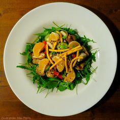 Salade de hauts de cuisses de poulet et clémentines