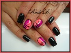 It`s all about nails: Black & Neons http://radi-d.blogspot.com/2014/07/black-neons.html