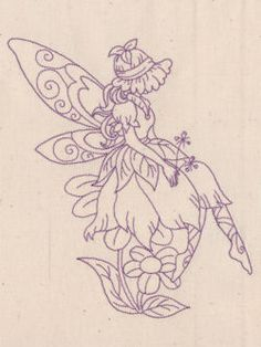 Redwork Fairies 07