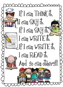 First Grade Wow: If I Can Think It ...  Very cute poster for the classroom!  :-)