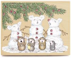 Monica, Mudpie, Maxwell, Muzzy and Amanda from House-Mouse Designs® featured on… Christmas Pictures, Christmas Art, Maus Illustration, Coloring Books, Coloring Pages, House Mouse Stamps, Mouse Pictures, Cute Mouse, Penny Black