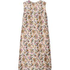 Tory Burch Esmeralda floral-print silk-crepe dress (3 905 ZAR) ❤ liked on Polyvore