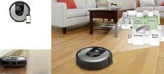 Roomba compatibile con Alexa e Google Assistant Robot, Vacuums, Home Appliances, Google, Tecnologia, House Appliances, Robotics, Vacuum Cleaners, Kitchen Appliances