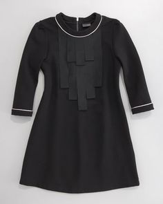 Ribbon-Bib Shift Dress by Fendi at Neiman Marcus.