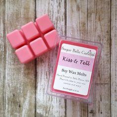 Scented Wax Tarts - Soy Wax Melts - Soy Wax Tarts - Wax Warmer Scents - Scented Wax Cubes - Natural Wax Melts - Candle Tarts - Kiss & Tell Scented Wax Warmer, Scented Wax Melts, Soy Wax Melts, Wax Tarts, Cubes, Kiss, Soap, Candles, Natural