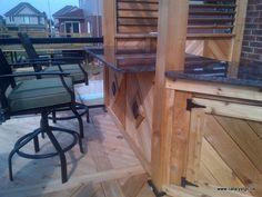 Outdoor space - deck with wood and bar Deck, Bar, Space, Wood, Projects, Outdoor, Display, Madeira, Blue Prints