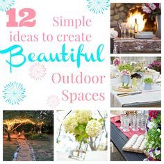 12 simple ways to create outdoor sp
