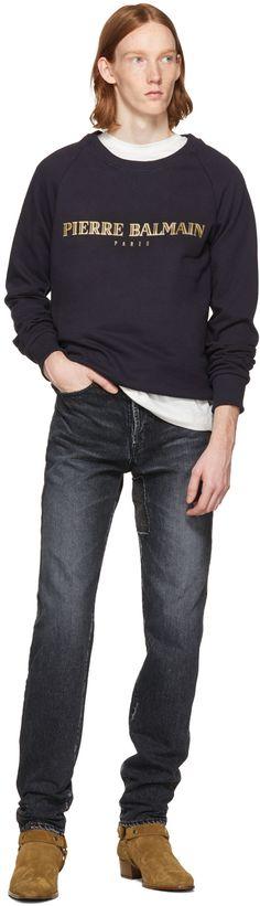 Pierre Balmain - Navy Logo Sweatshirt