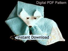 Fox Scarf PDF Knitting Pattern Easy Knitting by ToppyToppyKnits