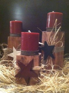 Wooden+Candle+Holders