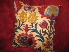 Two Red Tassel Throw Pillow Free Shipping by PrettyPlushPillows, $50.00