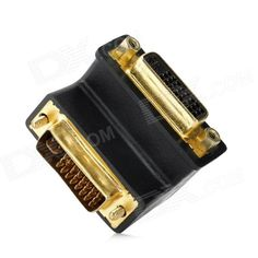 Color: Black - Quantity: 1 - Material: Plastic - Interface type: DVI (24 + 4) male to female - Right angle design http://j.mp/1kUjKTk