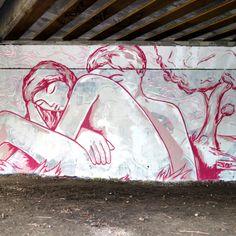 Wallart couple Artist: Jordane Jone Graffiti Characters, Street Art Graffiti, Wall Art, Artist, Street, Artists, Wall Decor