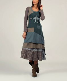 Green & Khaki Nina Dress - another Ian mosh design.  Could I possibly ever replicate?