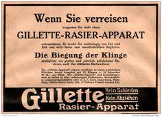 Original-Werbung/ Anzeige 1911 - GILLETTE RASIER - APPARAT - ca. 190 x 130 mm