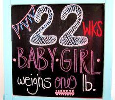 22 weeks pregnant chalk board