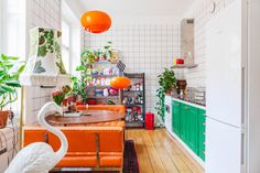 Colorful kitchen, We love it!