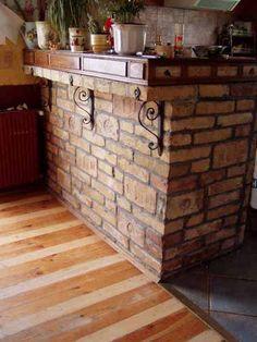 Inspirációk az otthonunkhoz: Bontott tégla a konyhában