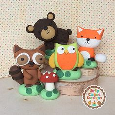 Little forest critters are taking over the shop! Cake Icing Tips, Woodland Cake, Woodland Theme, Biscuit, Boys 1st Birthday Cake, Wedding Cakes With Flowers, Flower Cakes, Fondant Animals, Rolling Fondant