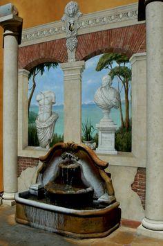 Courtyard Italian Mural, Venetian Court Hotel, R  ancho Cordova