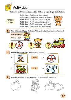 Clasa Pregătitoare : Limba engleză pentru clasa pregătitoare Homeschooling, Ali, Acting, Teacher, Teddy Bear, English, Activities, Reading, Children