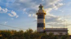 Sant'Elia Lighthouse in Sardinia Island