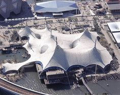 """German Pavilion """"Expo in Montreal, Expo 67 Montreal, Quebec Montreal, Bartlett School, Membrane Structure, Tensile Structures, Roof Architecture, Amazing Architecture, Fabric Structure, Urban Fabric"""
