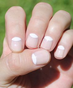 White moon nails.