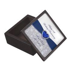 Damask 45th Wedding Anniversary Gift Box Premium Trinket Boxes