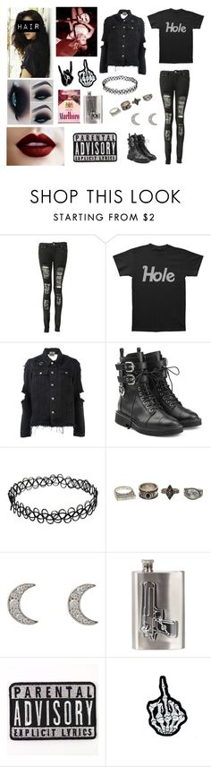 """""""Hole / Courtney Love / Grunge / Punk / Rock / Heavy Metal"""" by heavymetalvampirequeen ❤ liked on Polyvore featuring Boohoo, UNIF, Giuseppe Zanotti, Charlotte Russe, Finn and River Island"""