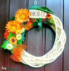 Őszi vesszőkoszorú (25 cm) (pinkrose) - Meska.hu Grapevine Wreath, Grape Vines, Wreaths, Home Decor, Decoration Home, Door Wreaths, Vineyard Vines, Deco Mesh Wreaths, Interior Design