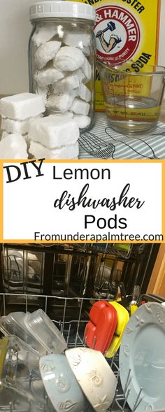 If you love DIY's and using handy dishwasher tabs, check out this quick and easy homemade recipe for DIY Lemon Dishwasher Pods. Homemade Cleaning Products, Cleaning Recipes, Cleaning Hacks, Dishwasher Tabs, Best Dishwasher, Diy Dishwasher Cleaner, Homemade Dishwasher Detergent, Laundry Detergent, Cleaners Homemade