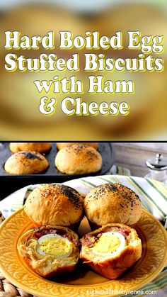 These easy to make Hard Boiled Egg Stuffed Biscuits with Ham & Cheese can be made in a matter of minutes with the help of a few supermarket convenience foods. Theyre the perfect a grab-and-go breakfast which will please the entire family! Hard Boiled Egg Recipes, Making Hard Boiled Eggs, Hard Boiling Eggs, Boiled Egg Diet, Brunch Recipes, Seafood Recipes, Cooking Recipes, Best Egg Recipes, Vegetarian Recipes