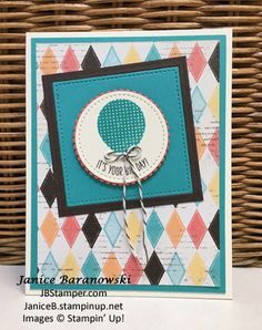 Birthday Banners - 1-tgifc94, JBStamper, Cupcakes & Carousels DSP, Stitched Shapes, Layering Circle, Layering Squares framelits