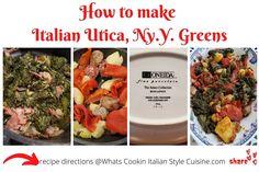Italian Utica Greens Recipe | What's Cookin' Italian Style Cuisine