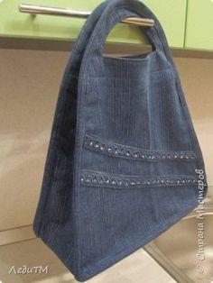 Wardrobe Master-class Sewing Denim bag Thread Fabric photo 13