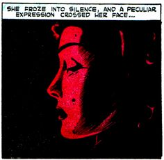 She froze into silence