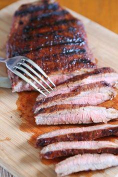 Grilled Flank Steak with Brown Sugar Rub