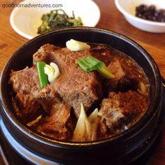eggrolls and korean braised beef short ribs Seoul Korean Cuisine - Lubbock, TX http://www.goodnomadventures.com/blog/seoul-korean-cuisine-lubbock