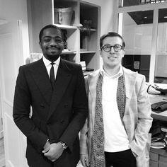 Great chatting with Michael - bespoke tailor on Savile Row @damibrooowne #oscarhunt #tailors #savilerow #tailoring #bespoke #dapper #guyswithstyle #gentlemenfashion #handmade #london #menswear #mensfashion #style #suits #sprezz #sprezzatura #sartorial