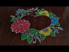 2020 New year special Rangoli - YouTube