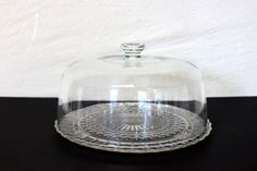 Your place to buy and sell all things handmade Cake Stand With Dome, Glass Cakes, Cake Cover, Pressed Glass, Cake Plates, Cottage Chic, Depression, Vintage, Etsy