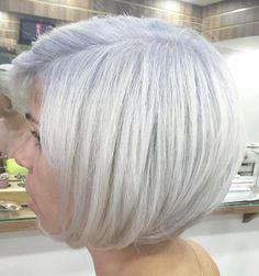 Chin-Length Silver Bob