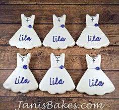 janisbakes dress cookies, first communion