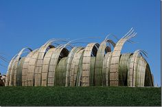 Tetsunori Kawana and Stephen Talasnik created Bamboo Sculptures at Denver Botanic Gardens