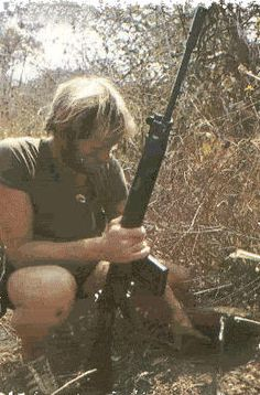 - A Selous Scout on a long-range patrol discovers a small trap laid by nationalist guerillas to capture fresh food !